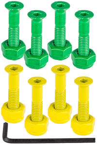 "Shake Junt Bag-O-Bolts 1"" Set de vis (green yellow) Flathead (tête fraisée) allen"