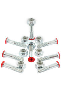 "Shortys 1"" Bolt Pack (red) Flathead (countersunk) cross slot"