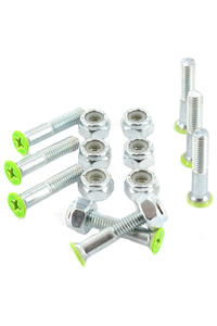 "Shortys 1"" Set de vis (green) Flathead (tête fraisée) cross slot"