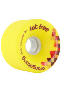 Orangatang Fat Free 65mm 86A Ruote (yellow) pacco da 4