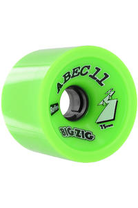 ABEC 11 Retro Big Zigs 75mm 80A Ruote (lime) pacco da 4