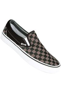 Vans Classic Slip-On Shoes (black pewter checkerboard)