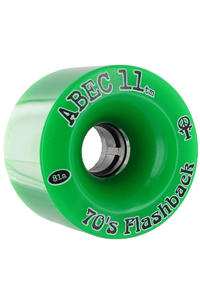 ABEC 11 Flashbacks 70mm 81A Ruote (green) pacco da 4