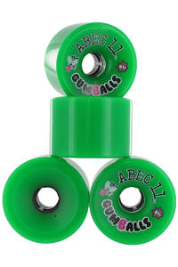 ABEC 11 Gumballs 76mm 81A Ruote 4er Pack  (green)