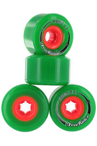 ABEC 11 Classic Freeride 72mm 81A Wheels (green) 4 Pack
