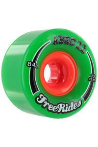 ABEC 11 Classic Freeride 72mm 84A Wheel (green) 4 Pack