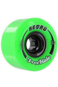 Retro Freeride 72mm 80A Wheel (lime) 4 Pack