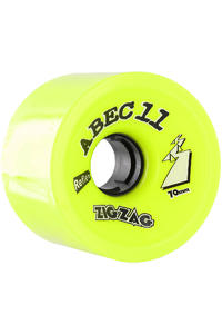 ABEC 11 Retro Zig Zags 70mm 83A Wheels (lemon) 2 Pack