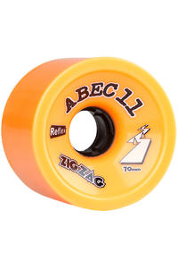 ABEC 11 Retro Zig Zags 70mm 86A Roue (orange) 2 Pack