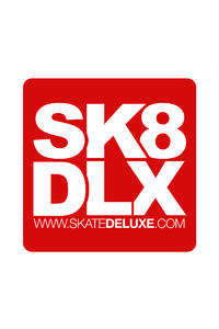 SK8DLX 40 cm Adesivo (red)