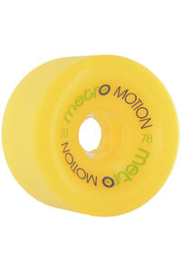 Metro Wheels Motion 70mm 78A Ruote (yellow) pacco da 4