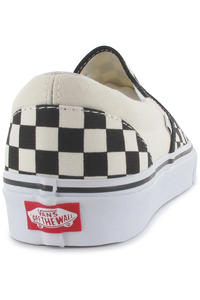 Vans Classic Slip-On Schuh (black and white checker white)
