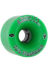 ABEC 11 Flashbacks 70mm 84A Ruote (green) pacco da 4