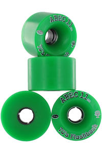 ABEC 11 Flashbacks 70mm 84A Roue (green) 4 Pack