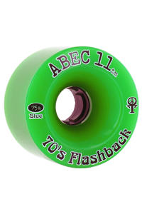 ABEC 11 Flashbacks 70mm 75A Ruote (green) pacco da 4