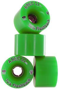ABEC 11 Flashbacks 70mm 75A Ruote (green) pacco da 4
