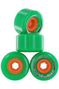 ABEC 11 Classic Freeride 72mm 78A Rollen (green) 4er Pack