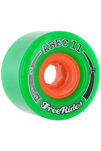 ABEC 11 Centerset Freeride 72mm 81A Ruote (green) pacco da 4