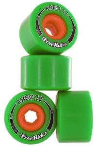 ABEC 11 Centerset Freeride 72mm 84A Roue (green) 4 Pack