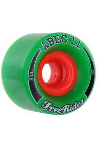 ABEC 11 Classic Freeride 66mm 81A Wheel (green) 4 Pack