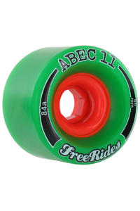 ABEC 11 Classic Freeride 66mm 84A Wheel (green) 4 Pack