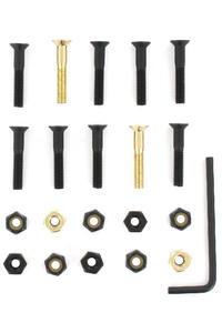 "SK8DLX Nuts & Bolts Gold 1 1/8"" Allen Montageset (black gold) Senkkopf Inbus"