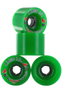 ABEC 11 Grippins 70mm 75A Rollen (green) 4er Pack