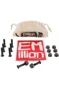 """EMillion Bolt Ya Nuts 7/8"""" Set de vis inkl. Beutel (black) Flathead (tête fraisée) cross slot"""