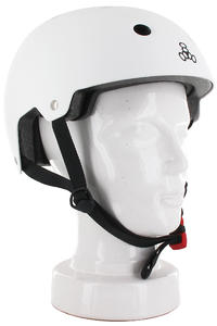 Triple Eight Brainsaver Casco (white rubber)