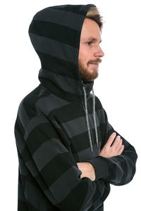 Cleptomanicx Stripe 2.0 Hoodie (pirate black)