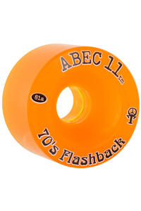 ABEC 11 Flashbacks 70mm 81A Ruote (amber) pacco da 4