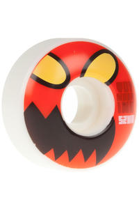 Toy Machine Monster Face 52mm Roue (white red) 4 Pack