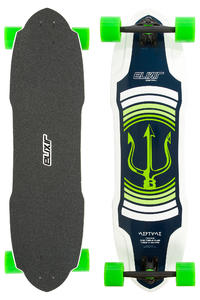 """Long Island Elixir Series - Neptun TM 35.7"""" (90,7cm) Longboard-Complète (green)"""