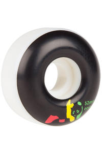 Enjoi Rasta Panda 52mm Wheel 4 Pack