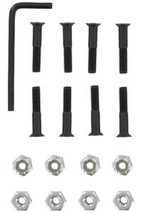 "Chocolate 1"" Bolt Pack (black) Flathead (countersunk) allen"