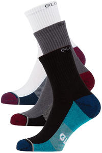 Globe Evan Chaussettes US 7-11 (white navy black) 5 Pack