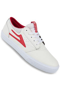 SK8DLX x Lakai Griffin SMU Leather Schuh (white red flare)