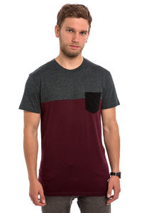Iriedaily Block Pocket T-Shirt (anthracite red)