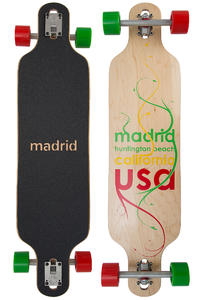 "Madrid Trance Maxed DT 39"" (99cm) Longboard completo (plant rasta)"