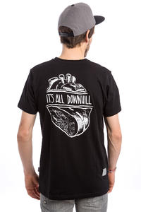 Legalize Longboarding Downhill T-Shirt (black)