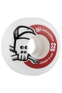 MOB Skateboards Skull 52mm Soft Rollen (white red) 4er Pack