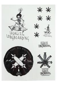 Legalize Longboarding Cat's Eye Caution Sticker (reflective)