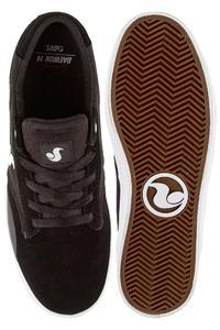 DVS Daewon 14 Suede Canvas Shoes (black white)
