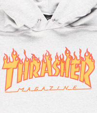 Thrasher Flame sweat à capuche (heather grey)