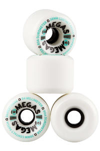 Sector 9 Omegas 64mm 80A OS Roue (white) 4 Pack