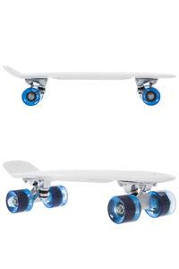 """SK8DLX Asphalt 22"""" Cruiser (white clear blue)"""