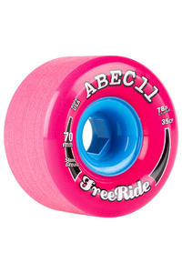ABEC 11 Classic Freeride 70mm 78A Wheel (pink) 4 Pack