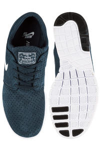 Nike SB Stefan Janoski Max Suede Schuh (obsidian white)