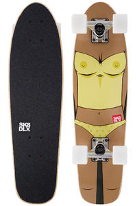 """SK8DLX Almost Naked 27"""" Cruiser (yellow brown)"""