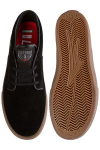 Lakai Riley Hawk Suede Shoe (black gum)